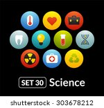 flat icons set 30   science and ...