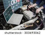 engineering interface against... | Shutterstock . vector #303693062