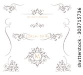 decorative vector frame ... | Shutterstock .eps vector #303715736