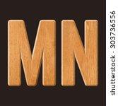 sans serif geometric font with... | Shutterstock .eps vector #303736556