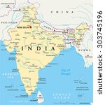 india political map with...