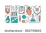 thin line flat design concept... | Shutterstock .eps vector #303750842