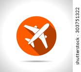 airplane vector icon | Shutterstock .eps vector #303751322