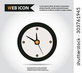illustration of clock web icon  ...   Shutterstock .eps vector #303761945