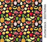 Big Fruits Seamless Vector...