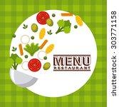 menu restaurant design  vector... | Shutterstock .eps vector #303771158