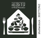 menu restaurant design  vector... | Shutterstock .eps vector #303771962
