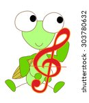 the mantis who plays it with a...   Shutterstock .eps vector #303780632