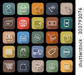 e commerce line icons with long ... | Shutterstock .eps vector #303793076