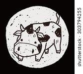 cow doodle | Shutterstock .eps vector #303794255