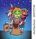 halloween kids | Shutterstock . vector #30379744
