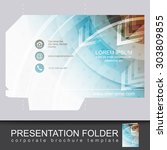 vector presentation folder... | Shutterstock .eps vector #303809855