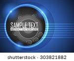 blue abstract background | Shutterstock .eps vector #303821882