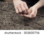 frontal landscape view of human ... | Shutterstock . vector #303830756