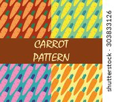 Seamless Pattern Carrot Autumn...