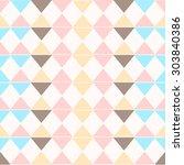 geometric fashion pattern | Shutterstock .eps vector #303840386
