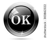 ok icon. internet button on... | Shutterstock .eps vector #303862322