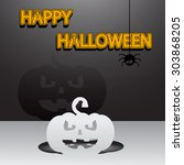 paper halloween background.... | Shutterstock .eps vector #303868205