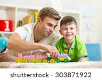 family time. cute kid boy...   Shutterstock . vector #303871922