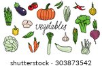 vegetables | Shutterstock .eps vector #303873542