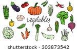 vegetables | Shutterstock .eps vector #303873542