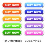 set of 'buy now' buttons | Shutterstock .eps vector #303874418