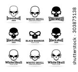 skulls  3  | Shutterstock .eps vector #303875138