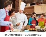 cooking class  culinary  bakery ... | Shutterstock . vector #303888482