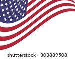 vector background of american... | Shutterstock .eps vector #303889508