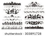 halloween dividers collection.... | Shutterstock .eps vector #303891728