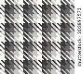 pixelated houndstooth plaid  ...   Shutterstock .eps vector #303897572