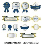 premium quality gold and silver ... | Shutterstock .eps vector #303908312