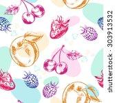 decorative seamless pattern... | Shutterstock .eps vector #303913532