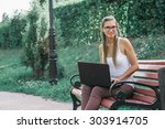 student  in business style...   Shutterstock . vector #303914705
