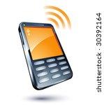 cell phone   Shutterstock .eps vector #30392164