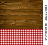 old wooden planks with... | Shutterstock . vector #303924065