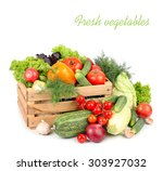 fresh ripe vegetables in a... | Shutterstock . vector #303927032