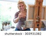 Portrait Of Female Artist...