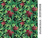 seamless floral pattern... | Shutterstock .eps vector #303938408