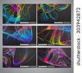 set of flyer  brochure design... | Shutterstock .eps vector #303942872