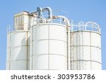 white silos for the storage of...