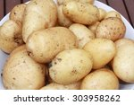 freshly harvested main crop... | Shutterstock . vector #303958262