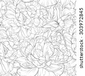 line floral | Shutterstock .eps vector #303972845