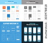 mobile app wireframe ui kit 16...