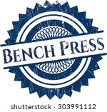 bench press rubber grunge stamp | Shutterstock .eps vector #303991112