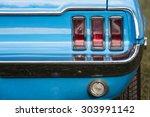 American Vintage Car  Rear View
