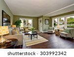 well decorated living room with ... | Shutterstock . vector #303992342