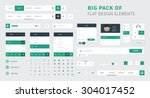 pack of flat design ui kit...