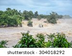 flash flood fast water come... | Shutterstock . vector #304018292