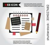 illustration of copy book for... | Shutterstock .eps vector #304027682